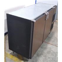 "Glastender BB60-R1LNH(LR) Refrigerated Back Bar Cabinet Two Section 60"" WORKING"