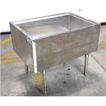 Krowne PT-2436-8 Silver Series Stainless 175Lb Ice Bin w/ 7-Circuit Cold Plate