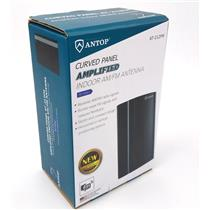 NEW Antop Antenna AT-212FM Curved Panel Indoor Amplified  AM / FM Antenna