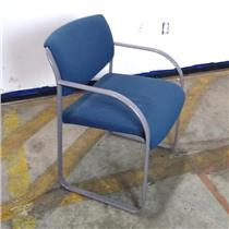Waiting Room / Office Style Relaxing Blue Steel Chair LOCAL PICKUP ONLY
