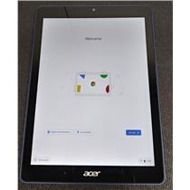 "Acer Chromebook Tab 10 9.7"" Chrome OS Tablet 4GB LPDDR3 32GB N18Q1 SEE NOTES"