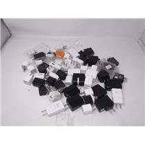 Lot of 50 mix cell phone chargers