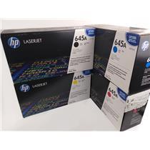 HP 645A Toner Cartridges C9730A C9731A C9732A C9733A Set of 4 New Genuine