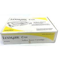 RECYCLED  OEM Lexmark C720 15W0900 Yellow Toner Cartridge
