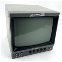"""Sony PVM-96 9"""" Black and White Video Monitor CRT TV Display - TESTED & WORKING"""