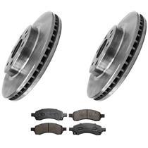 (2) Front Brake Rotors & Ceramic Brake Pads for 07-16 Acadia Traverse