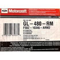F58Z-10346-A for Ford Motorcraft GL-480-RM Alternator Assembly