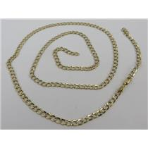 """10k White / Yellow Gold 24"""" Long Necklace - Stamped 10K GMI 4.64g - BROKEN CHAIN"""