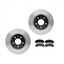 (2) Front Brake Rotors With Ceramic Pads Fits For 06-07 Chevrolet Monte Carlo