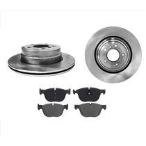 (2) Rear 320MM 12 5/8 Disc Brake Rotors & Ceramic Pads for BMW X5 3.0L 07-16