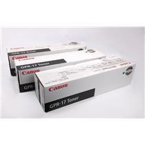 Lot of 3x NEW Genuine Canon GPR-17 Black Toner Cartridge For iR 5070 5570 6570