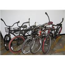 Lot of 5 Single Speed Beach Cruiser Bicycles Huffy Giant & More - LOCAL PICKUP