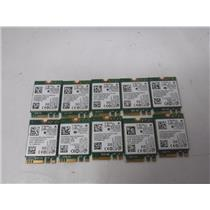 LOT OF 10 Intel Dual Band WIFI Wireless Bluetooth 4.0 NGFF M.2 Card (028D9J)