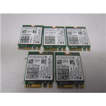 LOT OF 5 Intel Dual Band WIFI Wireless Bluetooth NGFF M.2 Card (7265NGW)
