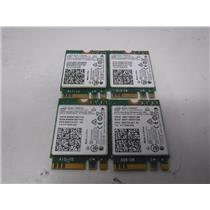LOT OF 4 Intel Dual Band WIFI Wireless Bluetooth NGFF M.2 Card (3165NGW)