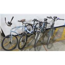 Lot of 4 Bike Bicycles Huffy Next Roadmaster Quest - LOCAL PICKUP ONLY