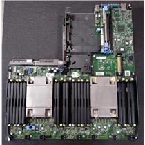 Dell PowerEdge R630 Server Motherboard CNCJW 2C2CP w/ (2x) Heatsinks & Risers
