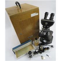 Vintage Nikon Nippon Kogaku 62689 Microscope W/ Case & More - SEE DESCRIPTION