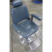 Takara Belmont Hydraulic Reclining Blue Barber Chair AB-340N - BAD HYDRAULICS