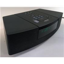 Bose AWRC-1G Wave Radio FM/AM CD Player Black Alarm Clock TESTED & WORKING