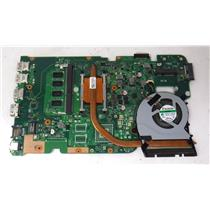 ASUS X555UA.205 LaptopMotherboard 60NB0AF0 w/i7-6500U 2.50GHz/4GB RAM Integrated