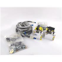 Lot of 2x NEW Power-Packer Hydraulic Cab Lift Tilt Pump w/ Housing & Accessories