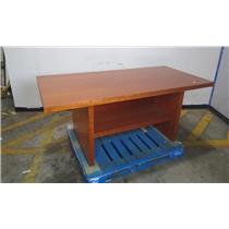 Solid Wooden Desk w/ Cubbies & Cable Management System - Local Pickup Only
