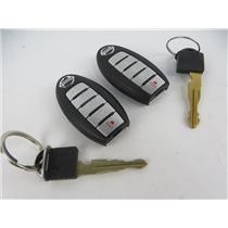 Lot of 2 Nissan Vehicle Keyfobs Key Fob Smart Remote Keyless Entry - PREOWNED