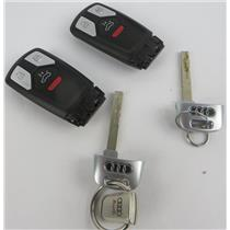 Lot of 2 Audi Vehicle Car Keyfobs Key Fob Smart Remote Keyless Entry - PREOWNED