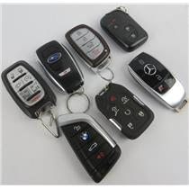Lot of 7 Vehicle Car Keyfobs Key Fob Smart Remote BMW Lexus GMC & More -PREOWNED