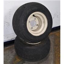 Lot of 2 Kenda Hole-N-One 4-Ply Nylon 18x8.50-8 Tubeless Tires with 4 Lug Rims