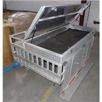 Diamond Plate Aluminum Double Door Dog Box W/ Full Enclosure - See Description