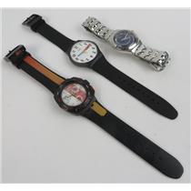 Lot Of 3 Swiss Made Swatch Watch Unisex Wrist Watches - SEE PHOTOS