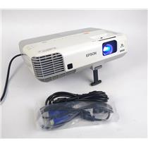 Epson H388A Power Lite 915W WXGA 3LCD Projector 1593Lamp Hrs 3200 Lumens WORKING