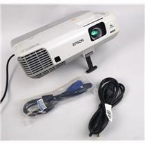 Epson H388A Power Lite 915W WXGA 3LCD Projector 323Lamp Hrs 3200 Lumens WORKING