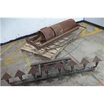 Unbranded Pull Behind Roller / Compactor & Furrower Attachment - SEE DESCRIPTION