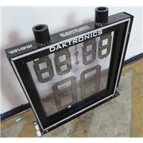Daktronics Transparent LED NBA Shot Clock Assembly - UNTESTED - SEE DESCRIPTION