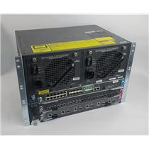 Cisco Catalyst 4503 Switch 3-Slot Chassis 2x PSU & WS-X4013+TS Supervisor READ