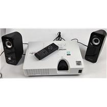 Hitachi CP-X2521 Crestron 3LCD HDMI Projector 70 Lamp Hours w/ External Speakers