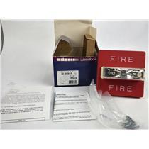 Wheelock Wall Mount Red Fire Alarm Strobe RSS-24110-FR 127474 (D548S) 20-31VDC