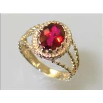 R070, Crimson Topaz, Gold Ring