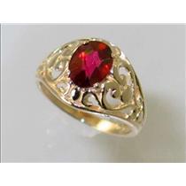 R111, Crimson Topaz, Gold Ring