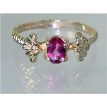 R192, Pure Pink Topaz, Gold Ring