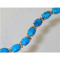 B003C, Turquoise Gold Bracelet
