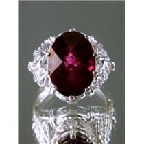 SR260, Crimson Topaz 925 Sterling Silver Ring