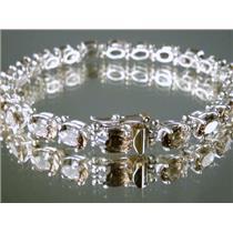 SB001, Smoky Quartz,  Sterling Silver Bracelet