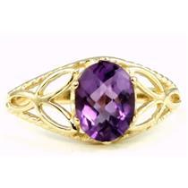 R137, Amethyst, Gold Ring