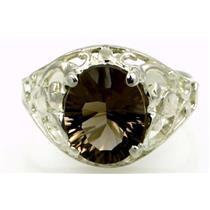 Smoky Quartz, 925 Sterling Silver Ring, SR004