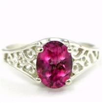 SR305, Pure Pink Topaz 925 Sterling Silver Ring