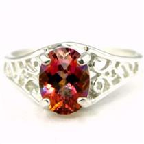 SR305, Twilight Fire Topaz 925 Sterling Silver Ring